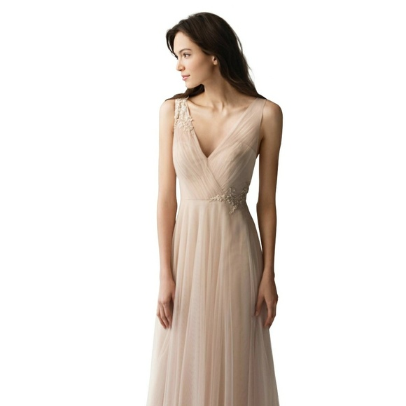 b0f496f19db Jenny Yoo Dresses   Skirts - Jenny Yoo Bridesmaid Dress Emelie Beaded Sz4